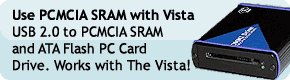 Use PCMCIA SRAM with Vista