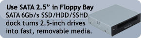 "Use SATA 2.5"" in Floppy Bay"