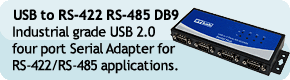 USB to RS-422 RS-485 DB9