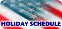 Closed Monday, May 27, 2019 for Memorial Day