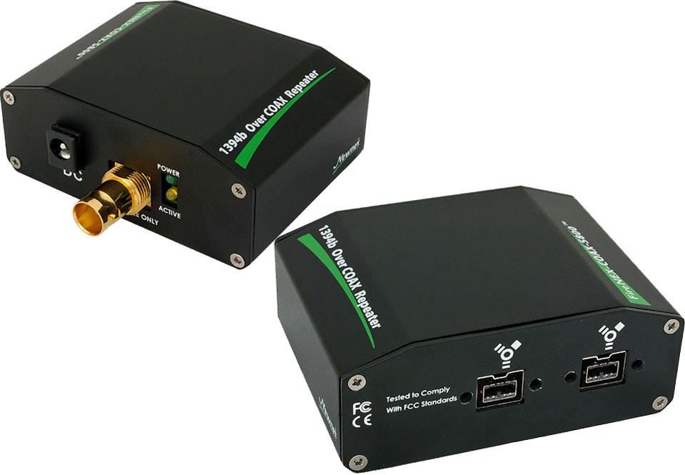 FireNEX COAX S800 75ohm COAX BNC FireWire 800 IEEE1394b Repeater Kit ...