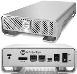 G-Tech G|DRIVE eSATA/FireWire 800/USB 7200RPM Hard Drives, Synchrotech