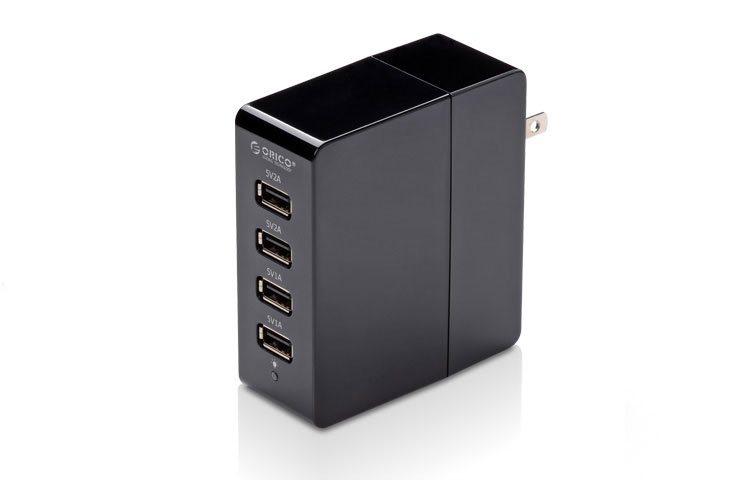 Orico 4-Port Wall AC USB Charger for Mobile Phones and Tablets DCA-4U