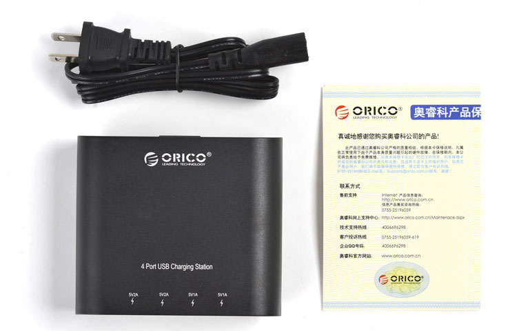 Orico 4-Port Wall AC USB Charger for Mobile Phones and Tablets DCH-4U