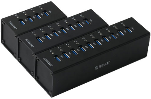 A3H Series 10, 7, and 4 Port SuperSpeed USB 3.0 Hubs
