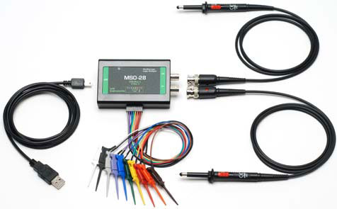 MSO-28 USB 2GSa/s Oscilloscope and 200MSa/s Logic Analyzer