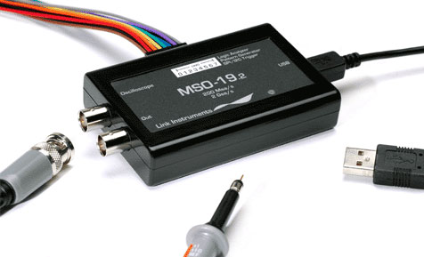 MSO-19 USB 2GSa/s Oscilloscope, 200MSa/s Logic Analyzer, 100MSa/s Pattern Generator and TDR