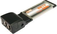 ExpressCard to USB 2.0 FireWire 400