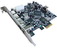 PCI Express to USB and FireWire 800