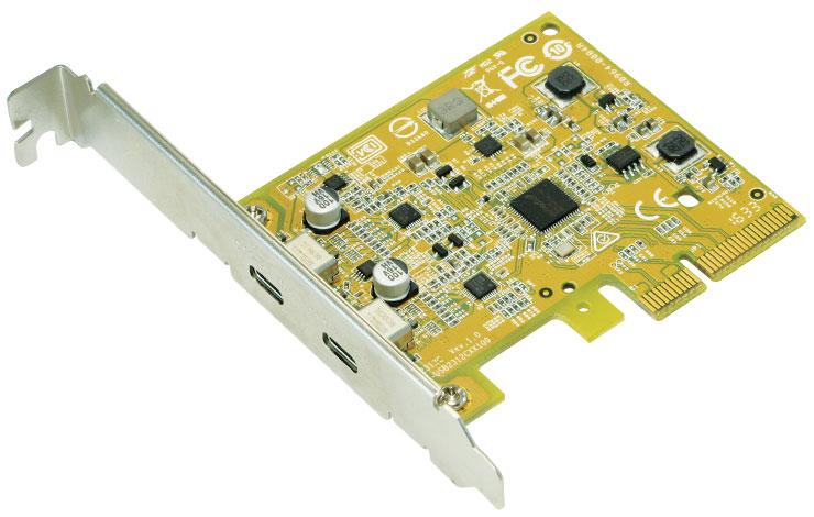 PCI Express 3.0 to SuperSpeed+ USB 3.1 Type-C Host Adapter 2 Port USB2312C