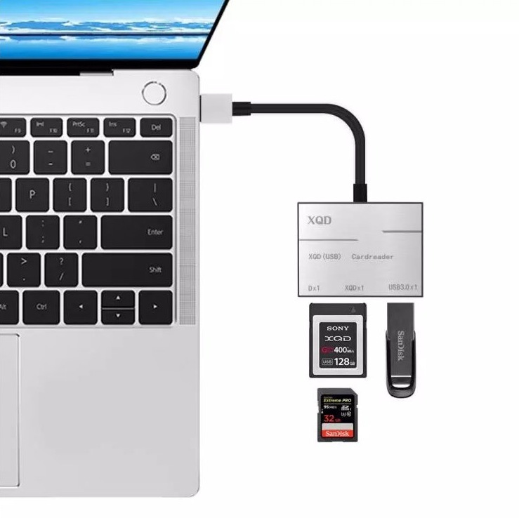 SuperSpeed USB 3.0 XQD and SD Card Reader + USB 3.0 port