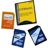 CompactFlash to multi-card media adapter