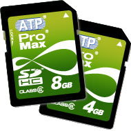 ATP ProMax SDHC 2.0 Class 6 SD Cards