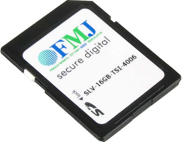 FMJ Secure Digital SD Cards Industrial Grade