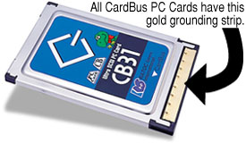 CardBus ground shield