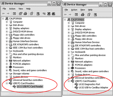 U111 and U132 in device manager